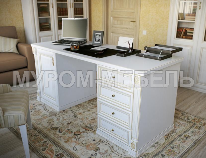 Здесь изображено Двухтумбовый письменный стол из серии