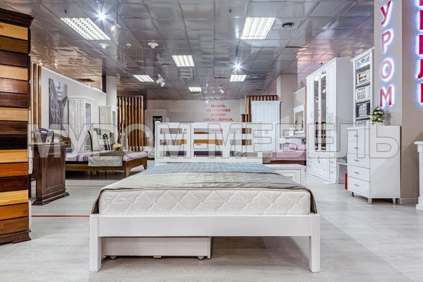 Здесь изображено Кровать Морфей (белая эмаль)