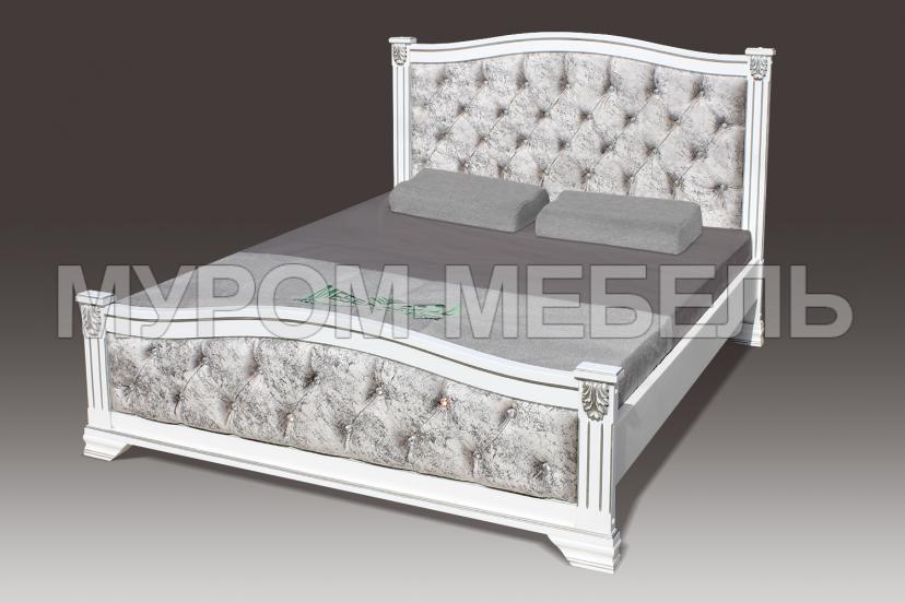 Здесь изображено Кровать Азалия со стразами