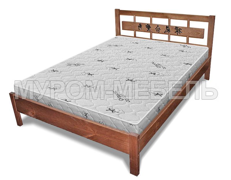 Здесь изображено Кровать Сакура с орнаментом