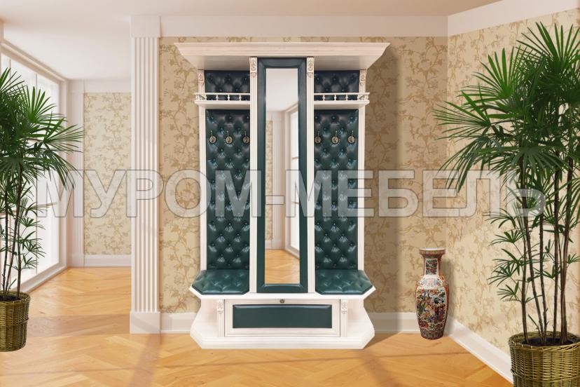 Здесь изображено Прихожая с открытой вешалкой и зеркалом 1 из серии