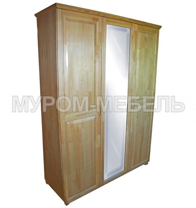 Здесь изображено Шкаф 3-х ств. с зеркалом (распашной)