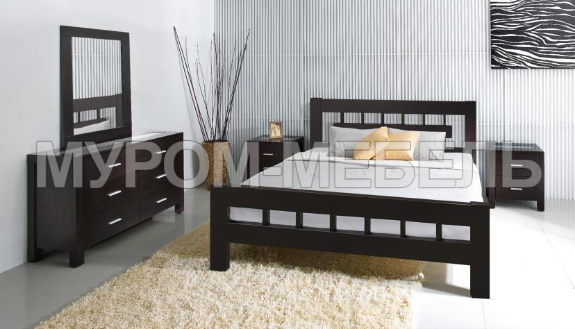 Здесь изображено Спальный гарнитур Сакура