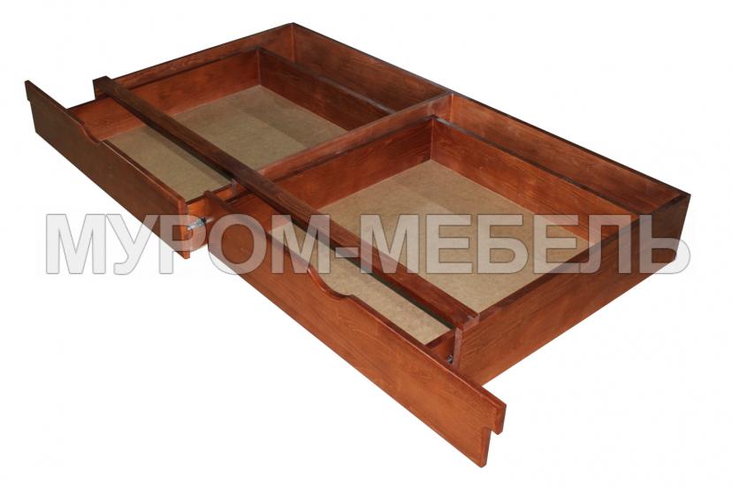 Здесь изображено Ящик подкроватный на направляющих
