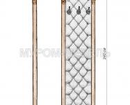 Здесь изображено Стеновая панель с зеркалом 1 из серии