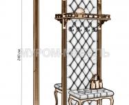 Здесь изображено Стеновая панель с зеркалом 2 из серии