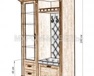 Здесь изображено Прихожая с открытой вешалкой и зеркалом 3 из серии