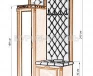 Здесь изображено Прихожая с открытой вешалкой и зеркалом 2 из серии