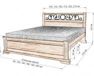 Здесь изображено Кровать Эстель (ковка)