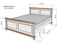 Здесь изображено Кровать Прованс Браун