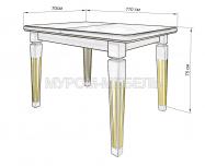 Здесь изображено Кухонный стол Адмирал