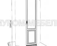 Здесь изображено Шкаф 1-створчатый угловой из сосны из серии