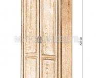 Здесь изображено Шкаф 2-х створчатый Флоренция-1 (белая эмаль)