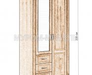 Здесь изображено Шкаф для одежды Флоренция-3