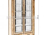 Здесь изображено Шкаф двойной Флоренция-4