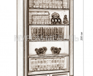 Здесь изображено Шкаф Флоренция-7 слоновая кость