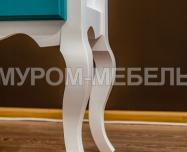 Здесь изображено Тумба Прованс Скай (белая эмаль + бирюзовая эмаль RAL 5018)