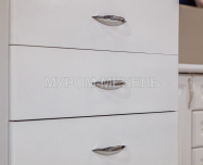 Здесь изображено Тумба Бали 5 ящиков (белая эмаль)