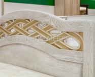 Здесь изображено Кровать Вирсавия (белая эмаль с золотой патиной)