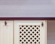 Здесь изображено Кухня Валерия (слоновая кость + коричневая эмаль)