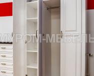 Здесь изображено Шкаф Прованс Браун (белая эмаль + Венге 3)