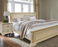Здесь изображено Кровать Грета из дуба