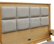 Здесь изображено Кровать Классика с мягкой вставкой