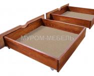 Здесь изображено Ящик подкроватный на колесиках