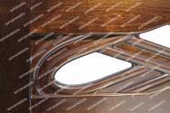 Здесь изображено Кровать Вирсавия (сосна, резьба береза)