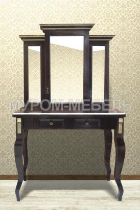 Здесь изображено Дамский столик Грета (сосна, резьба береза)