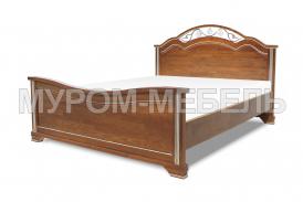 Здесь изображено Деревянная кровать Амелия