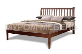Здесь изображено Деревянная кровать Беатрис (бук)
