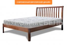 Здесь изображено Деревянная кровать Беатрис Люкс