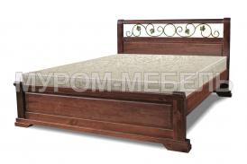Здесь изображено Кровать Эстель (ковка)  из дерева
