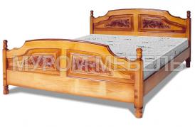 Здесь изображено Кровать Филенка Классика (резьба 4-х филенчатая)