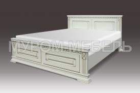 Здесь изображено Деревянная кровать Флоренция