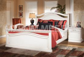 Здесь изображено Деревянная кровать Грация