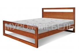 Здесь изображено Деревянная кровать Квебек