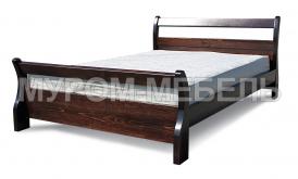 Здесь изображено Деревянная кровать Муза