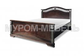 Здесь изображено Деревянная кровать Оливия