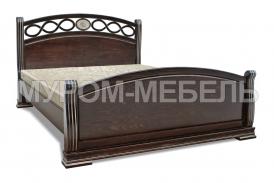 Здесь изображено Деревянная кровать Сиена