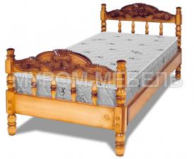 Здесь изображено Кровать Точенка Глория (резьба объемная №2)