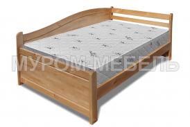 Здесь изображено Деревянная кровать Вероника Hard