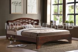 Здесь изображено Деревянная кровать Вирсавия из дуба