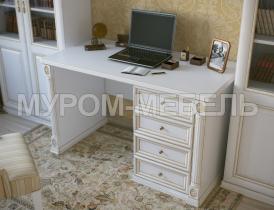 Здесь изображено Однотумбовый письменный стол из серии