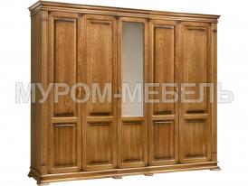 Здесь изображено Шкаф 5-ти створчатый Флоренция