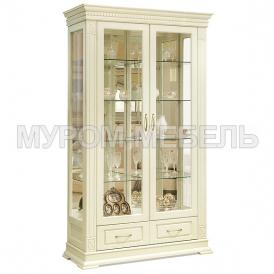 Здесь изображено Шкаф двойной Флоренция-1 слоновая кость
