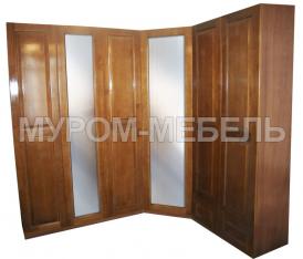 Здесь изображено Шкаф угловой с двумя зеркалами