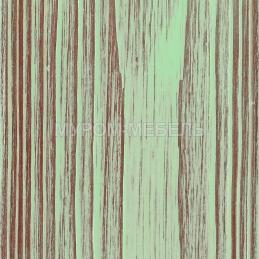 Зеленая эмаль с бордовой патиной