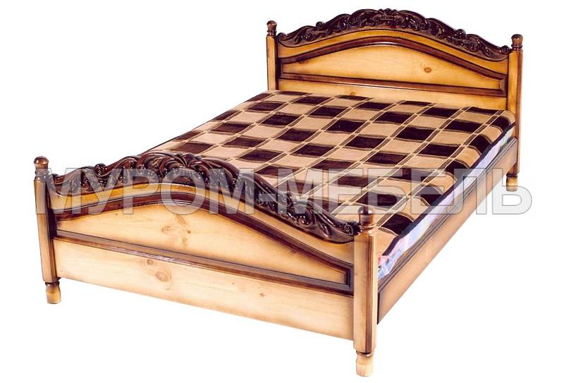 Здесь изображено Кровать Горка (резьба объемная)
